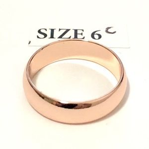 Jewelry - Men's / Women's Rose Gold Tone Ring, Size 6